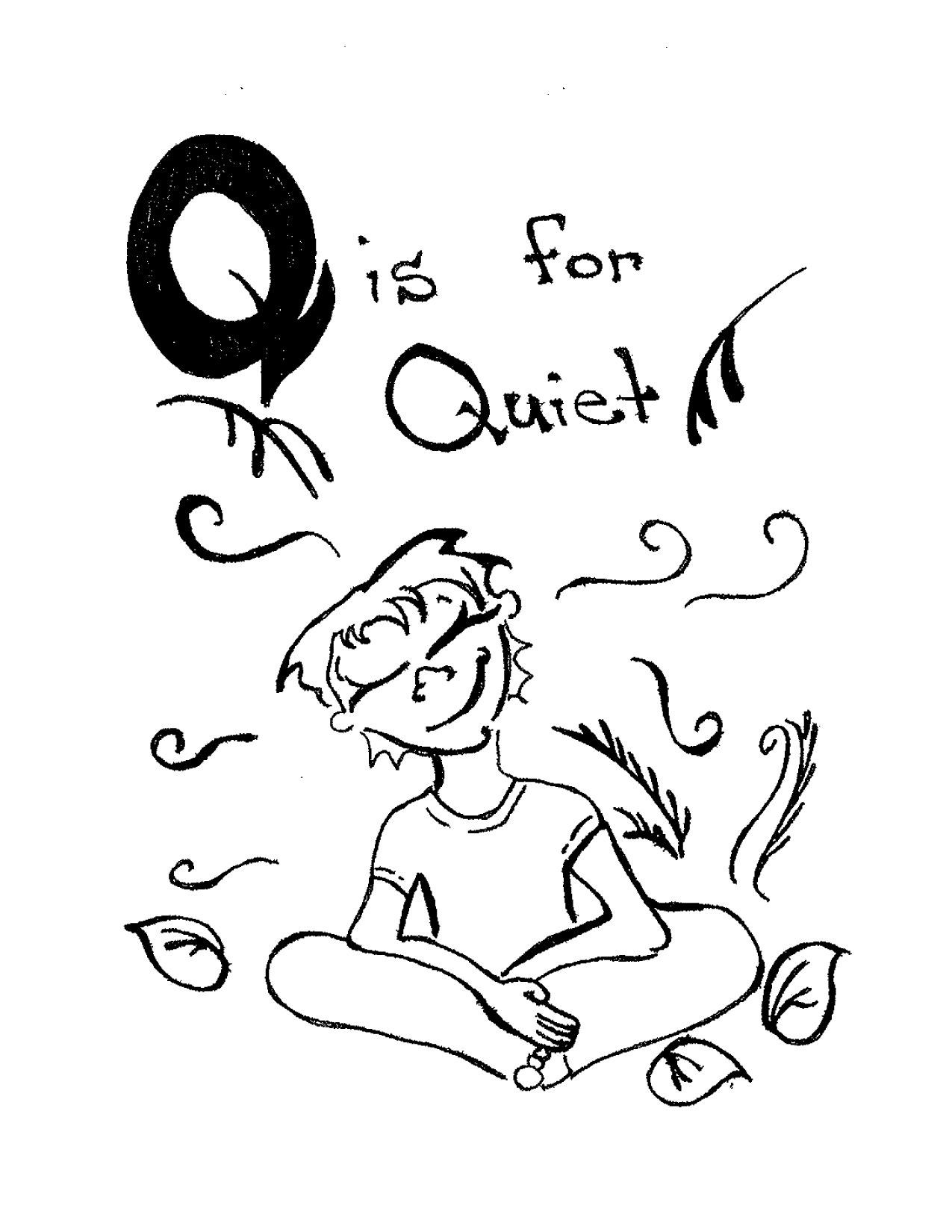 Q Is For Quiet The Forest Alphabet | ...